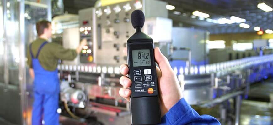 Прибор для измерения уровня шума на рабочих местах